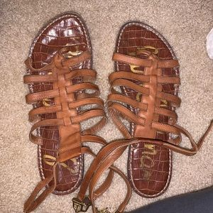 Sam Edelman gladiator leather brown sandals